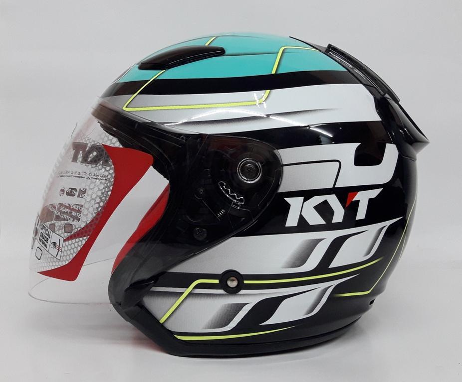 KYT DJ Maru Seri 13 Helm Half Face - Warna Motif