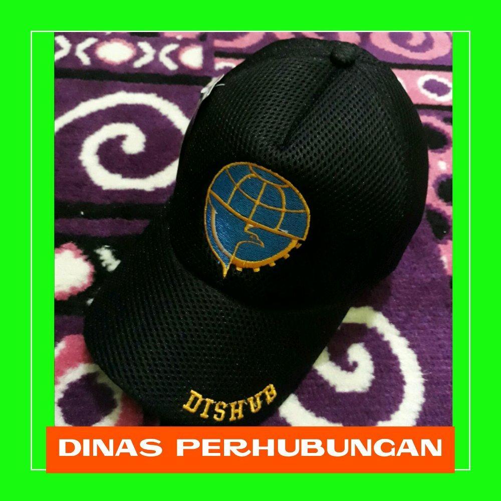 Topi jaring bordir DISHUB Dinas perhubungan di lapak Fashion depok bahrudin_tanjung