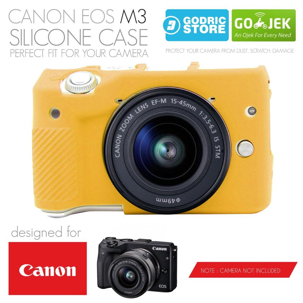 Godric Silicone Canon EOS M3 Silikon Case / Sarung Silicon Kamera Mirrorless - Kuning