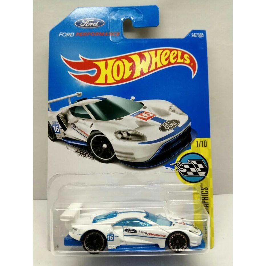 Hot Wheels 2016 Ford Gt Race Putih/White - U7ccao