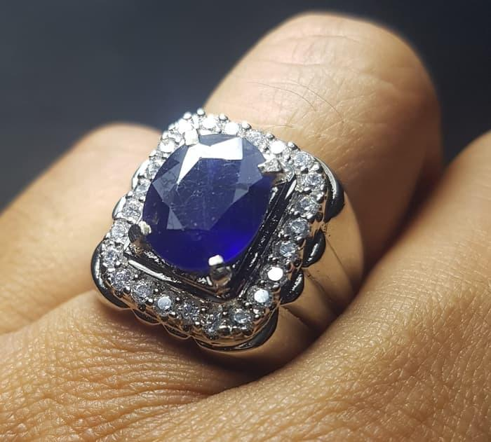 Promo Terbaru Natural Cincin Permata Blue Safir Like Srilanka By Natural Gemshop.
