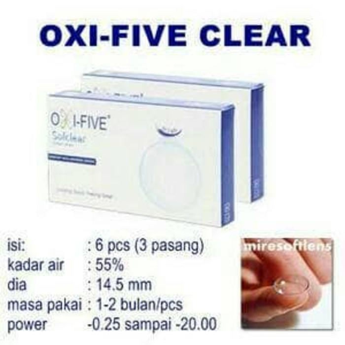 Softlens / Acessoris Softlens oxi-five clear monthly Kualitas Super