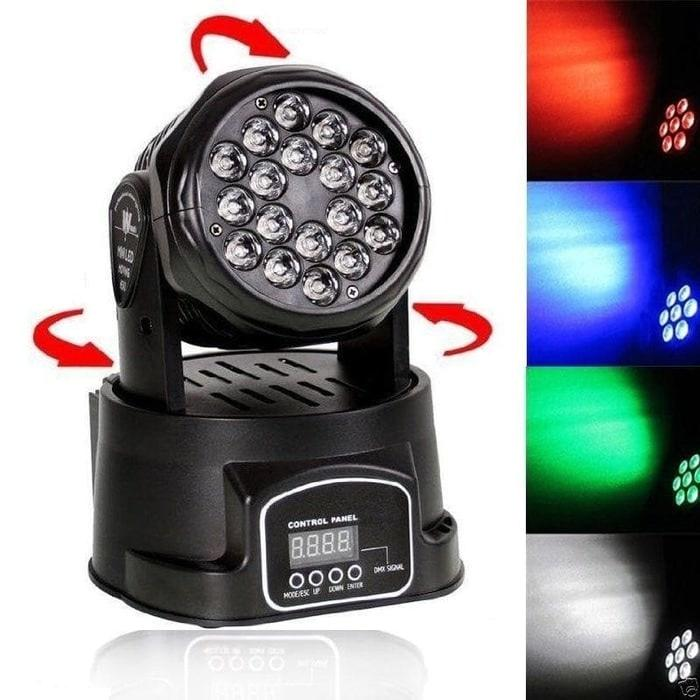 LAMPU SOROT PROJECTOR PANGGUNG DISCO LED PAR RGB 18LED