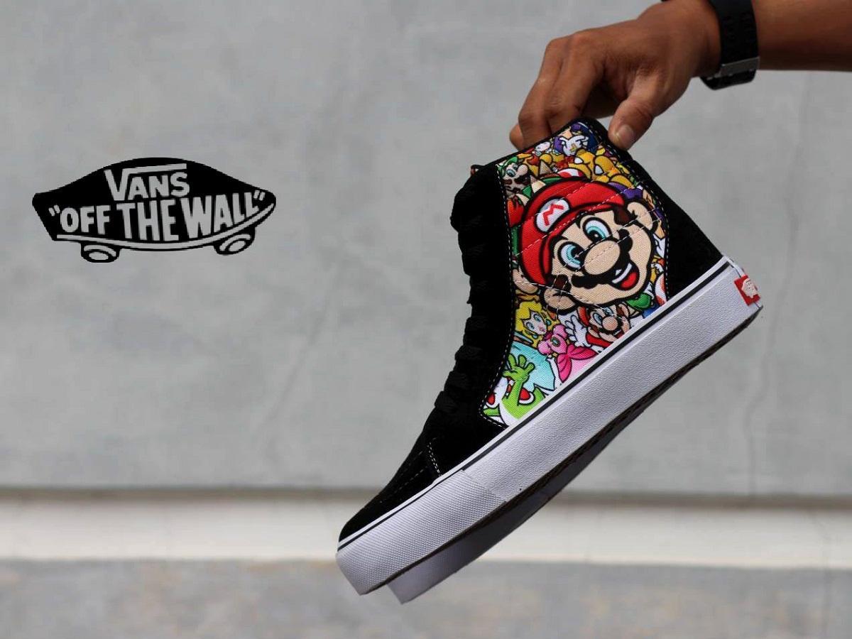 Daftar Harga Sepatu Vans Sk8 Nintendo Termurah Terbaru November 2018 Sneakers Bones Wtaps Icc High Oldskool Mario Bross