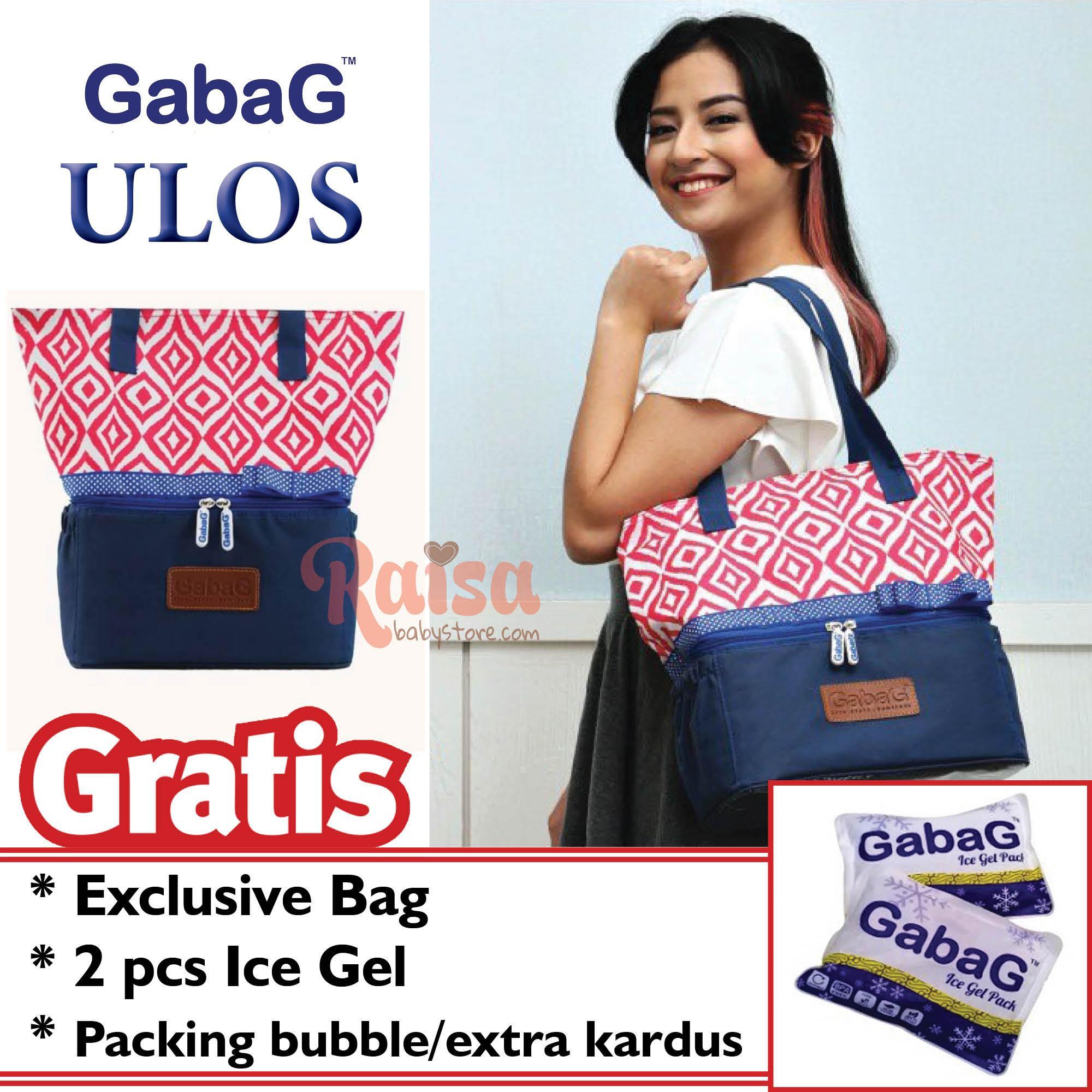 Gabag Ulos Cooler Bag / Thermal Bag / Tas Asi / Tas Penyimpan ASIP - Gratis 2 Ice Gel