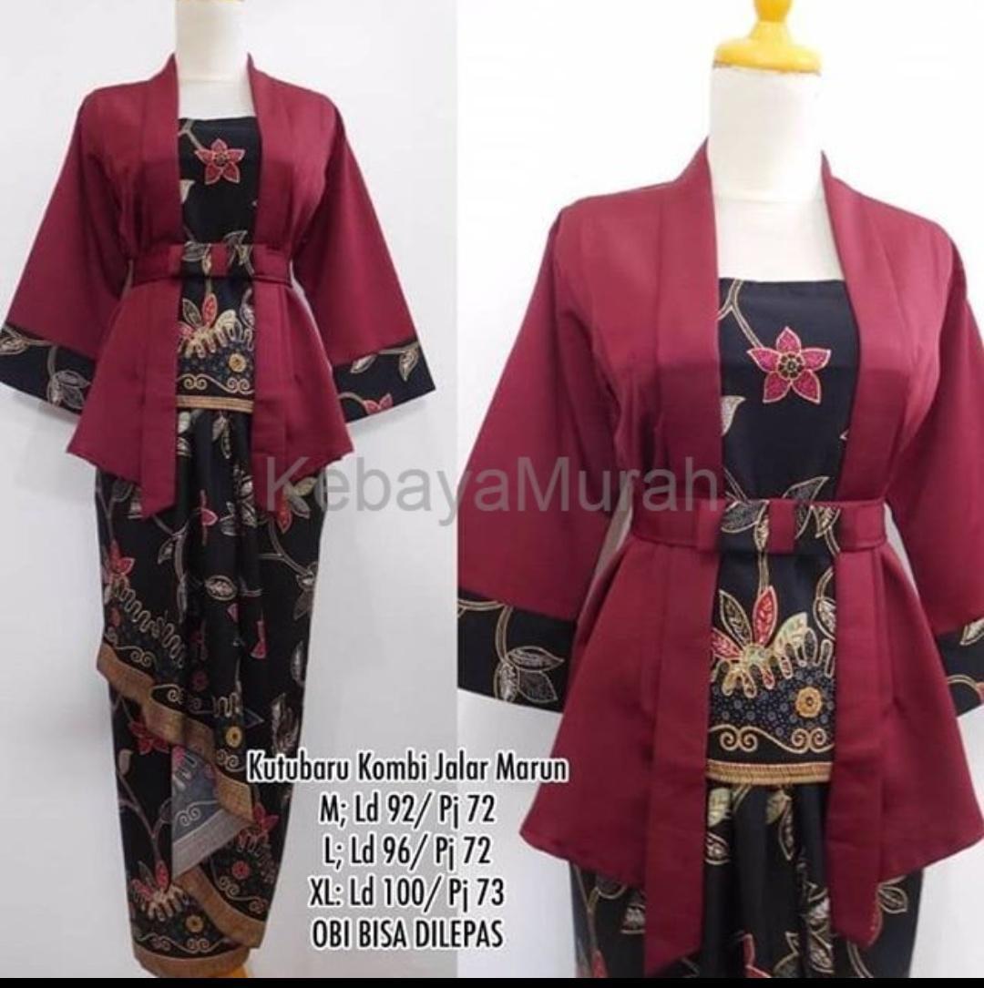 Setelan Pakaian  Batik Modern/kebaya modern/kebaya lebaran/kebaya tradisional/kebaya wanita/kebaya keluarga/ kebaya kutu baru & rok lilit. Elnira terbaru