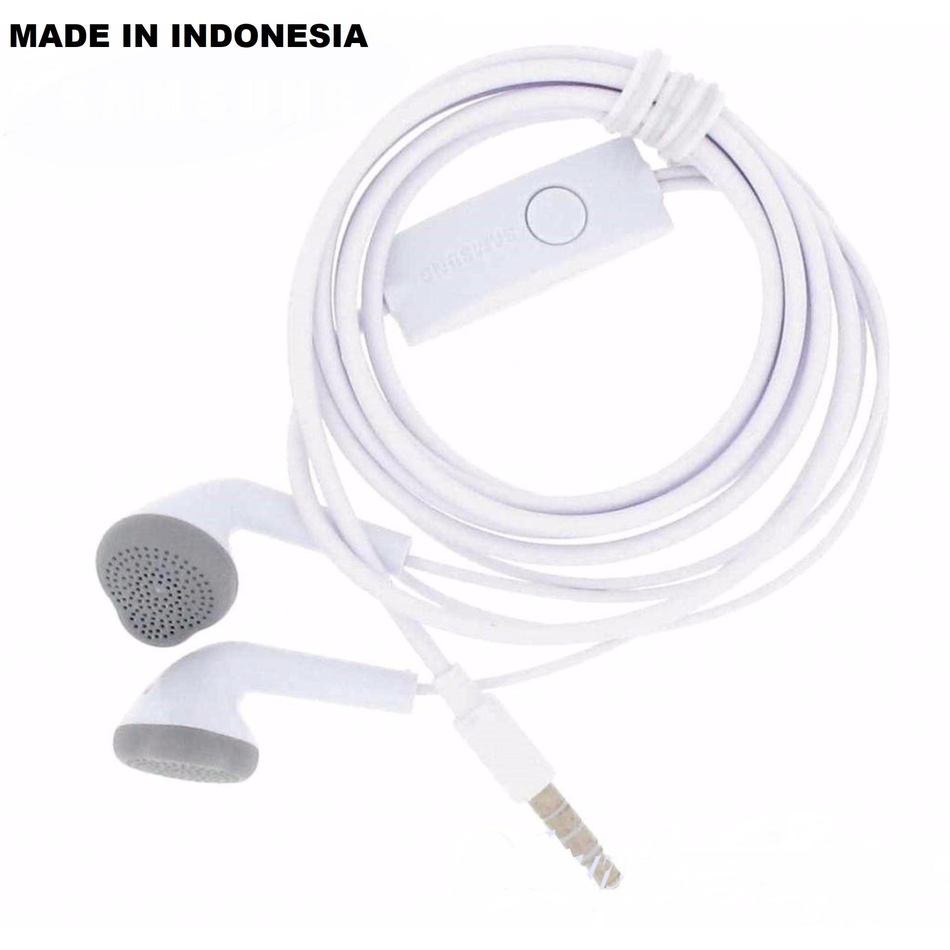 Grade AAA Headset Samsung Galaxy Original 100% J Series Made In Indonesia For All Smartphone Android Earphone Handsfree Jack 3.5mm - Putih