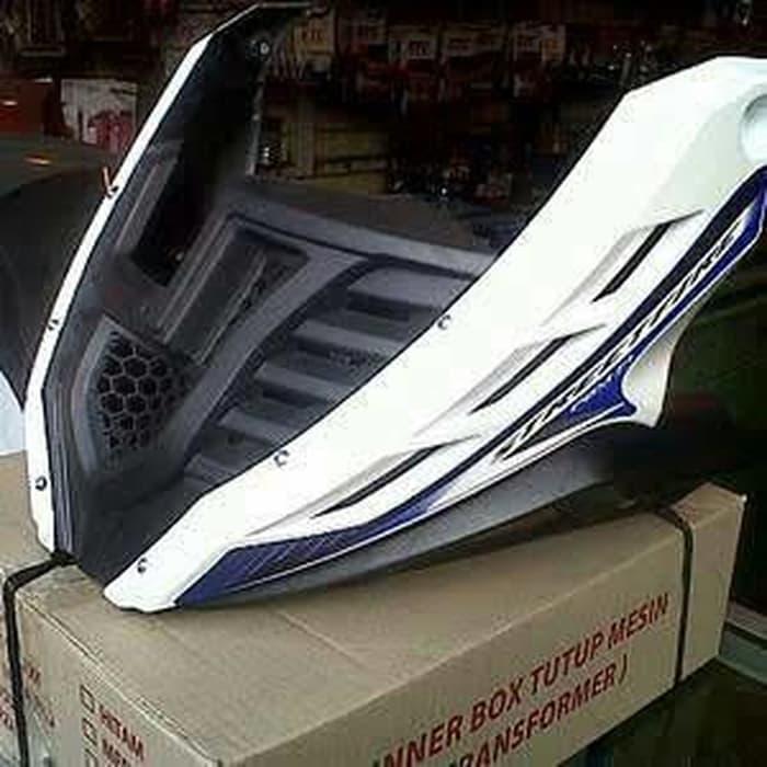 Cover tutup Mesin CB 150 R Transformer Putih list Biru ||| cover jok motor cover motor nmax cover m