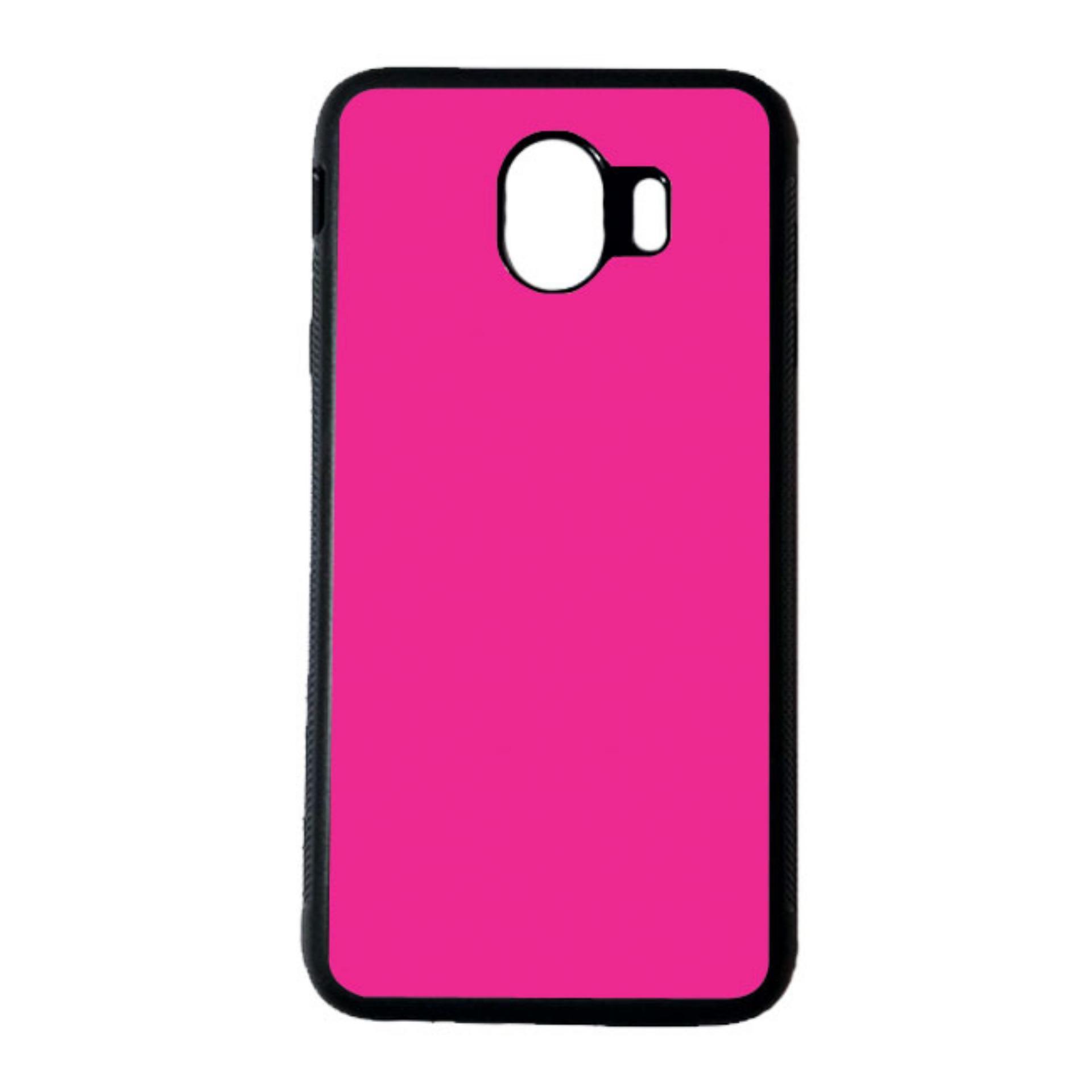 HEAVENCASE Casing Case Samsung Galaxy J4 2018 Softcase Hitam Motif Fucia Warna Pink