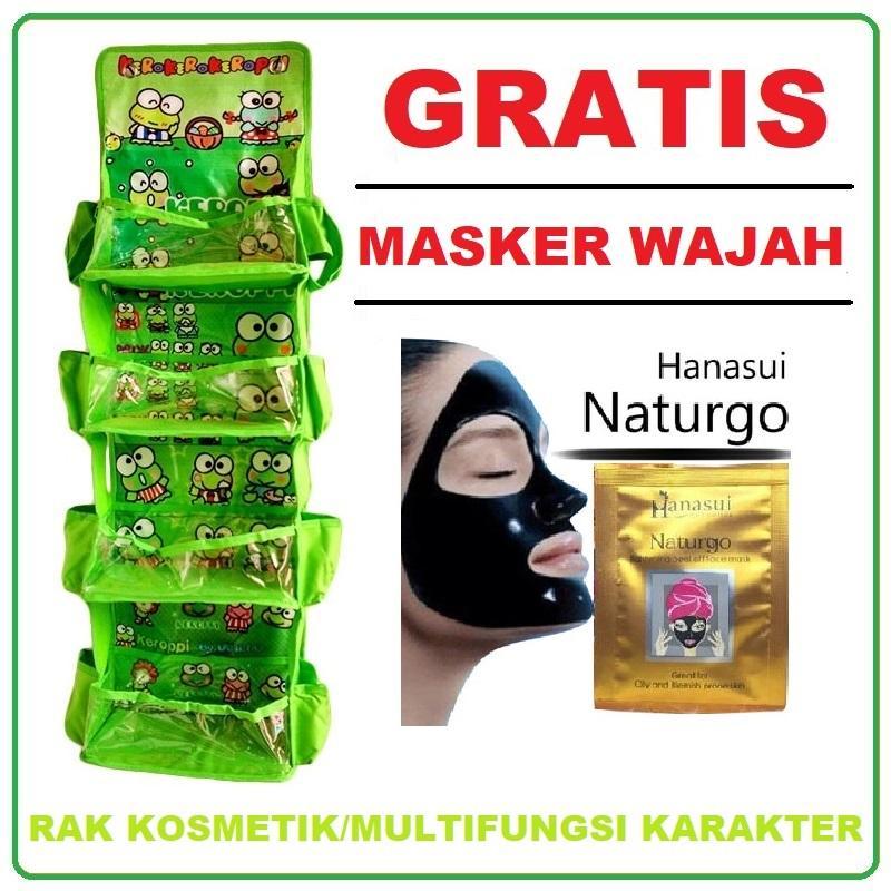 Rak Kosmetik/ Rak Multifungsi Gantung Karakter 4 Tingkat (gratis Promo) Dompet/ Pouch Kosmetik/ Masker Wajah By Mesh Store.