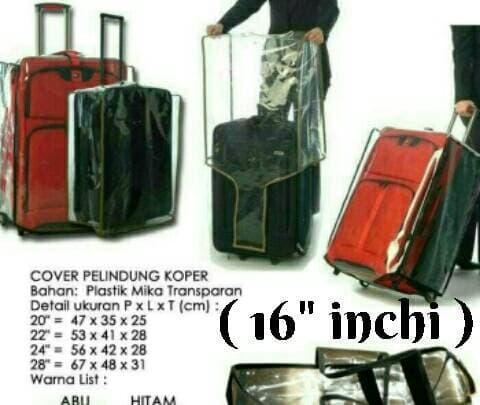 HARGA PROMO!!! sarung pelindung koper transparan zise 16 inchi - 2o7FZl