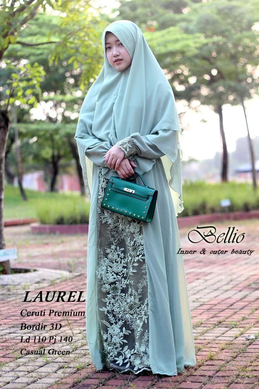 Hot Promo Terlaris Dress Gamis Ori Import Laurel/baju gamis/baju muslim bellio warna casual green