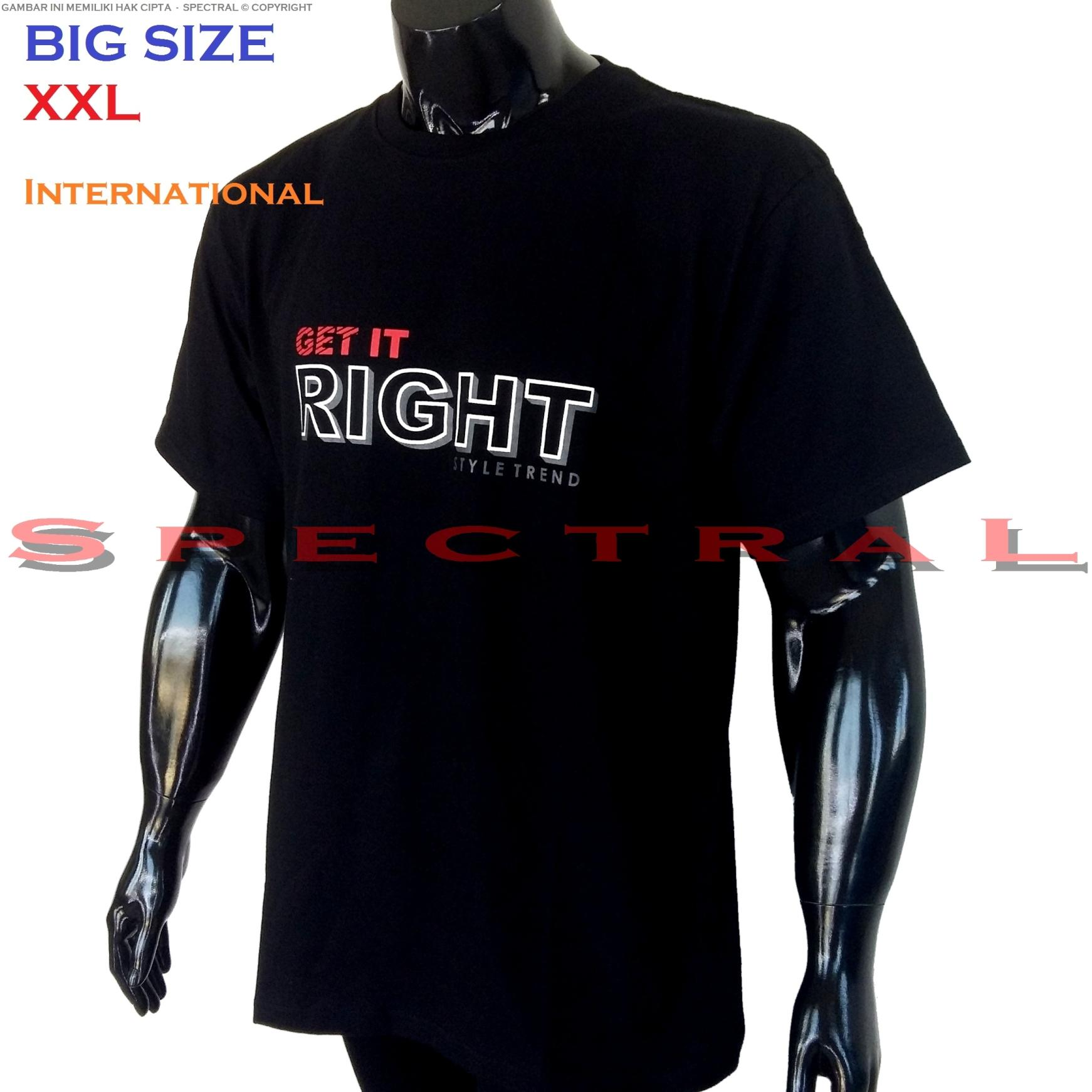 Spectral – BIG SIZE XXL INTERNATIONAL 100{55e037da9a70d2f692182bf73e9ad7c46940d20c7297ef2687c837f7bdb7b002} Soft Cotton Combed Kaos Distro Jumbo BIGSIZE T-Shirt Fashion Ukuran Besar Polos Celana Atasan Pria Wanita Katun Bapak Orang Tua Gemuk Gendut Lengan Simple Sport Casual 2L 2XL Baju Cowo Cewe Pakaian Terbaru