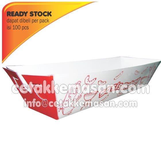 ASLI!!! Tray Sosis Bakar Dus uk 16 x 4 x 4 cm Foodgrade - r6Teed