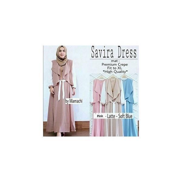 Jual Murah Dress Muslimah Murah/Grosir Dressmuslimah  Murah/SAVIRA DRESS