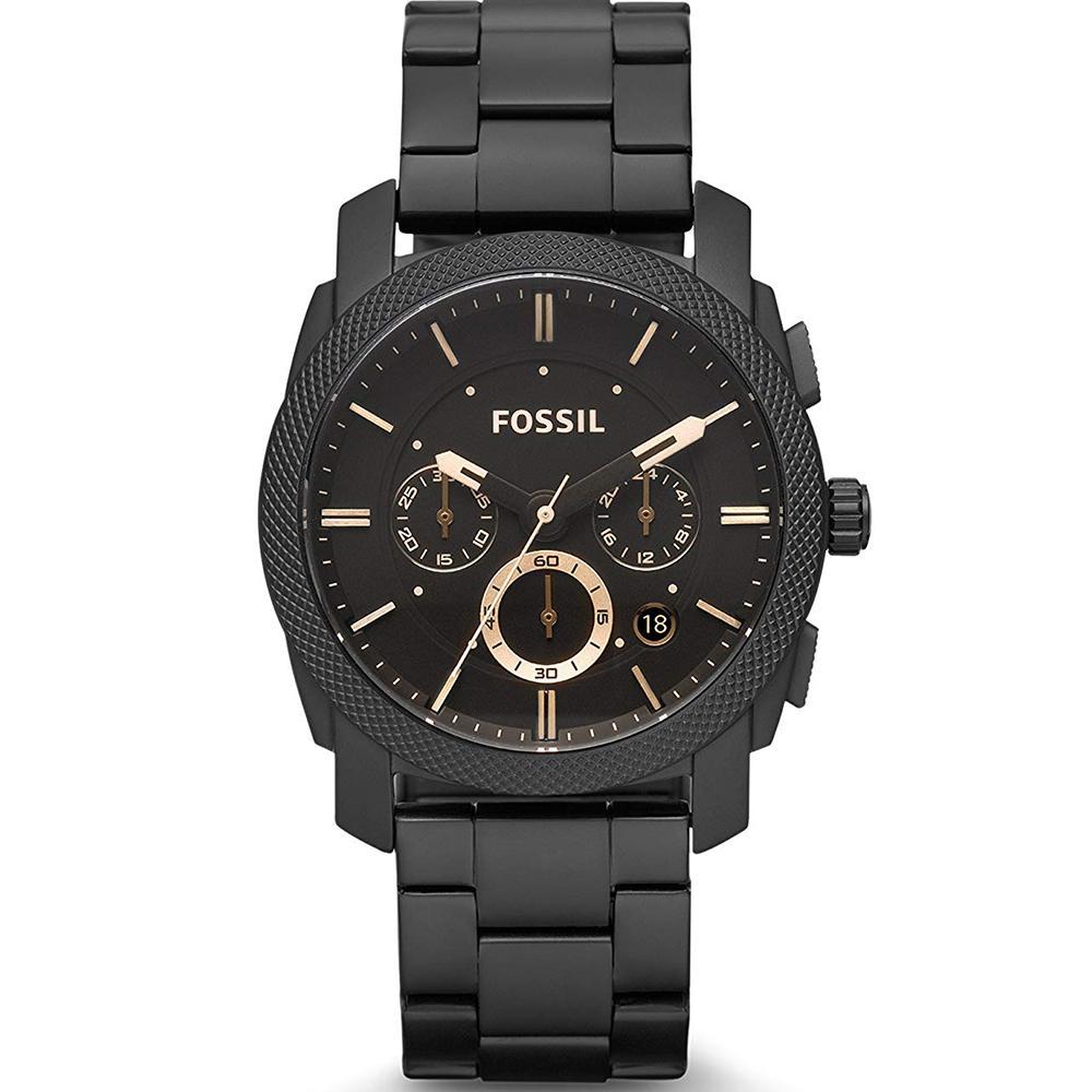 FOSSIL Machine Midsize Chronograph - Jam Tangan Pria - Hitam - Stainless  Steel - FS4682 73cef6cb5a