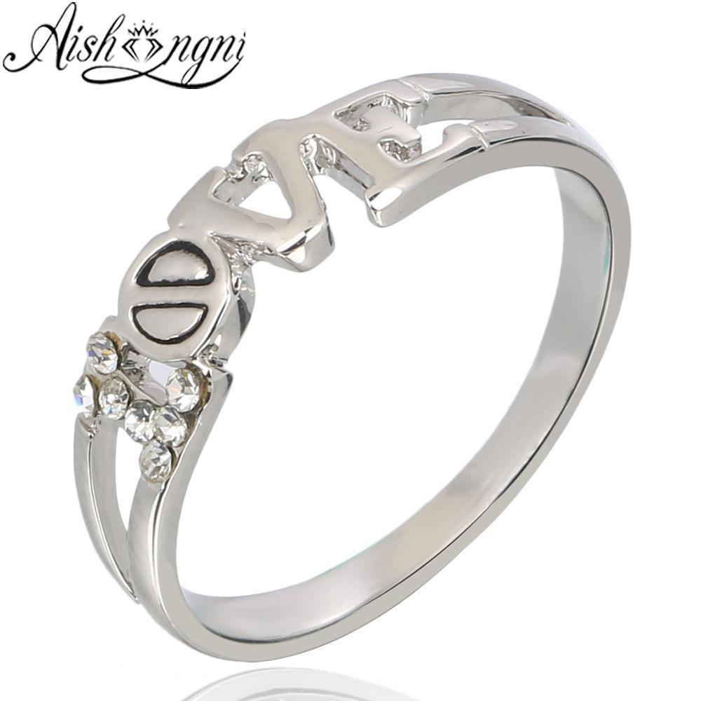 Cincin Cinta untuk Wanita AAA Kubik Cincin Zirconia Gadis Hadiah Perhiasan Mawar Emas Cincin Pernikahan Anti Alergi Beberapa Cincin