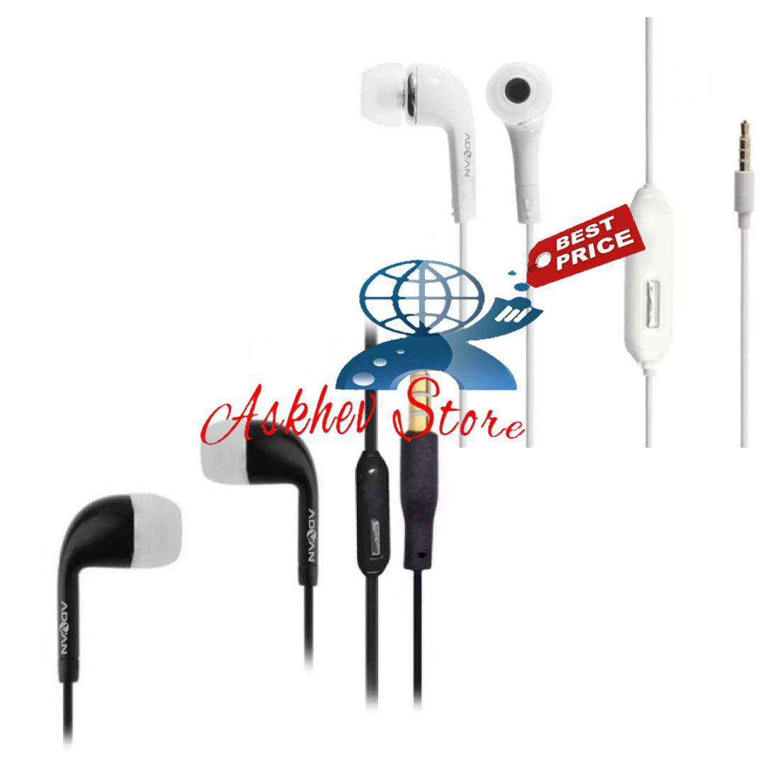 Headset Compatible For advan new /handsfree/earphone vandroid with mic Oem