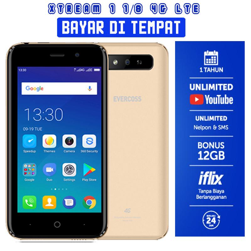 Evercoss S45 Xtream 1 4G LTE -  1/8GB + Gratis Youtube 1 Tahun