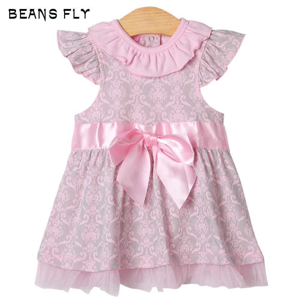 Bayi, Wanita Hamil, Ibu-Kacang Terbang Balita Bayi Perempuan Busur Lengan Pendek Gaun