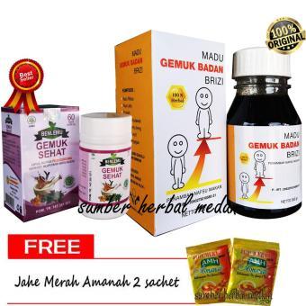 Harga preferensial Paket Gemuk Sehat Madu Brizi + Kapsul Benlemu beli sekarang - Hanya Rp64.930