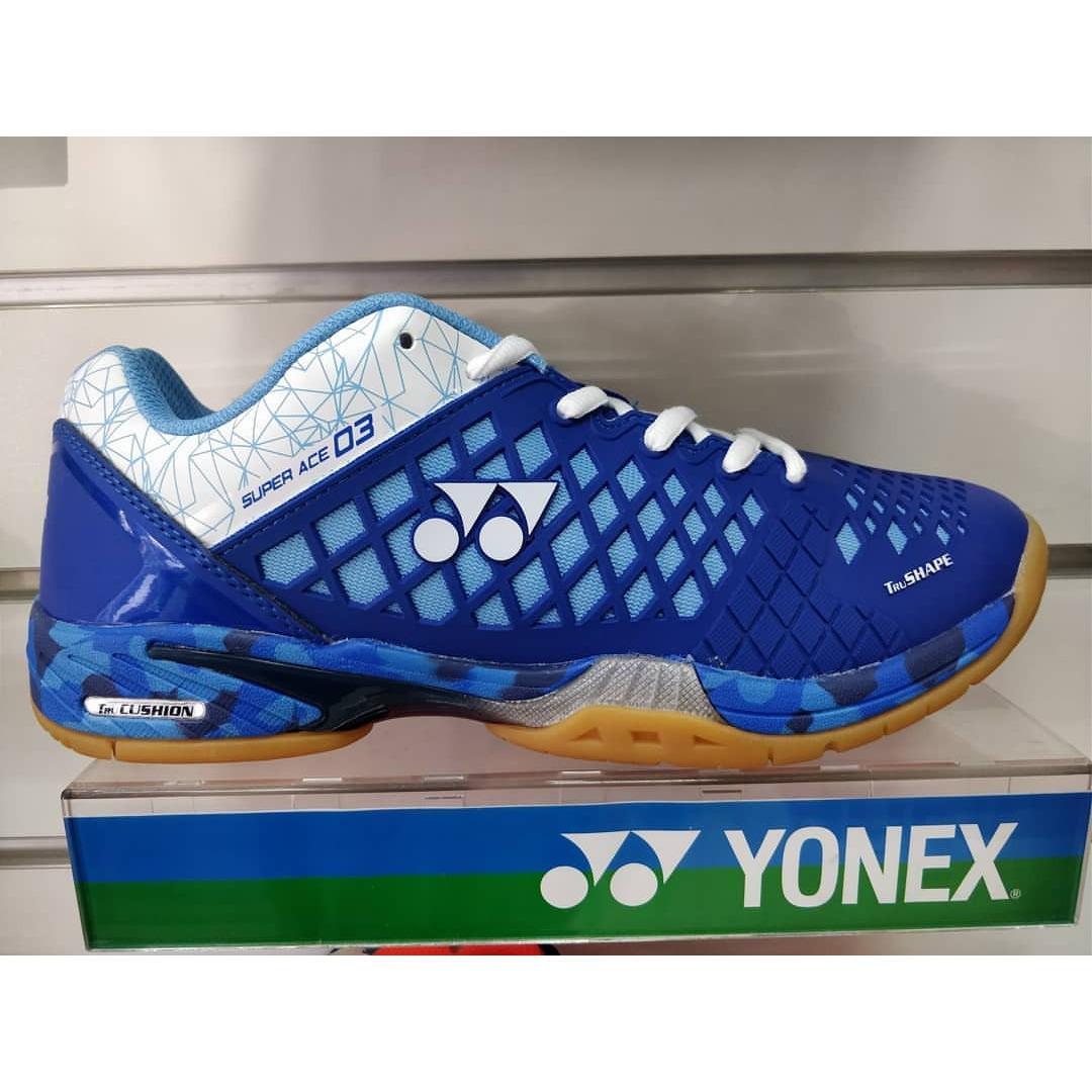 Sepatu Badminton Yonex Super Ace 03 Blue/Biru (Original)