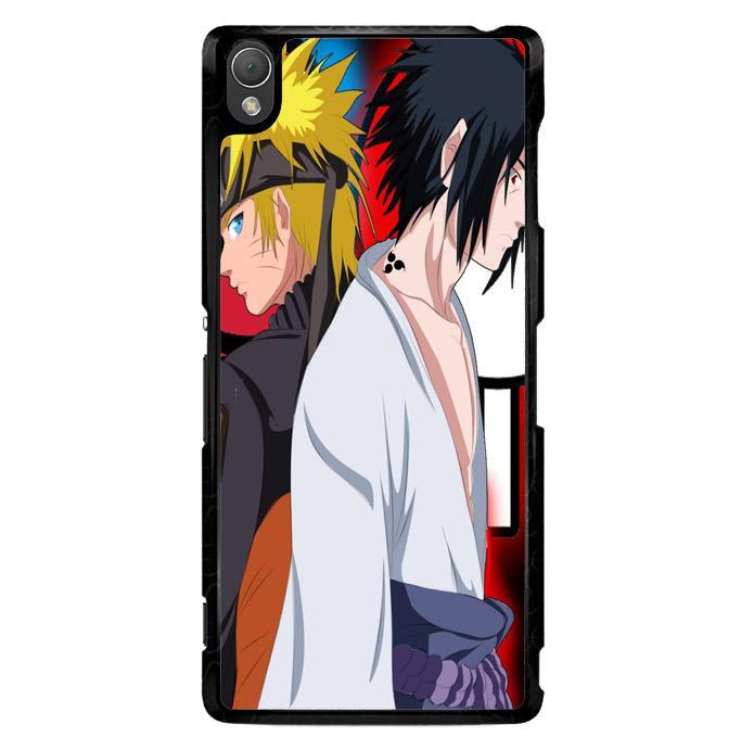 Sasuke Uchiha Vs Naruto Uzumaki Shippuden Z0686 Sony Xperia Z3 Custom Hard Case