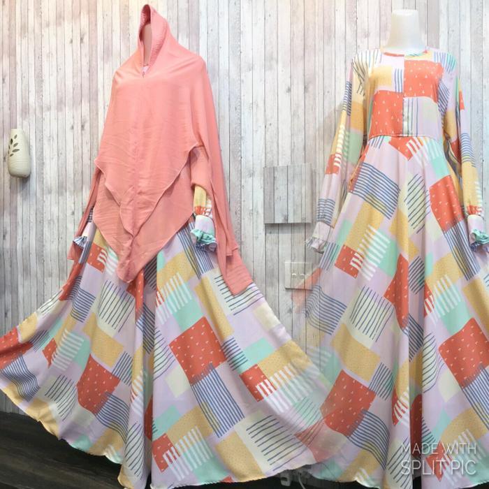 Adzra Gamis Murah syari/busana muslim wanita - Bilqis dress - Orange