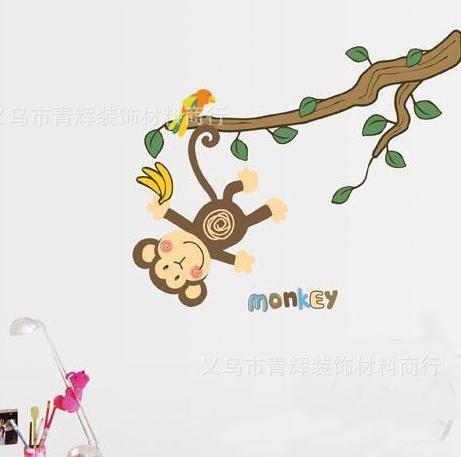 Set Stiker Dekorasi Dinding Motif Monyet Berayun di Pohon MP RAMAYANA 1789