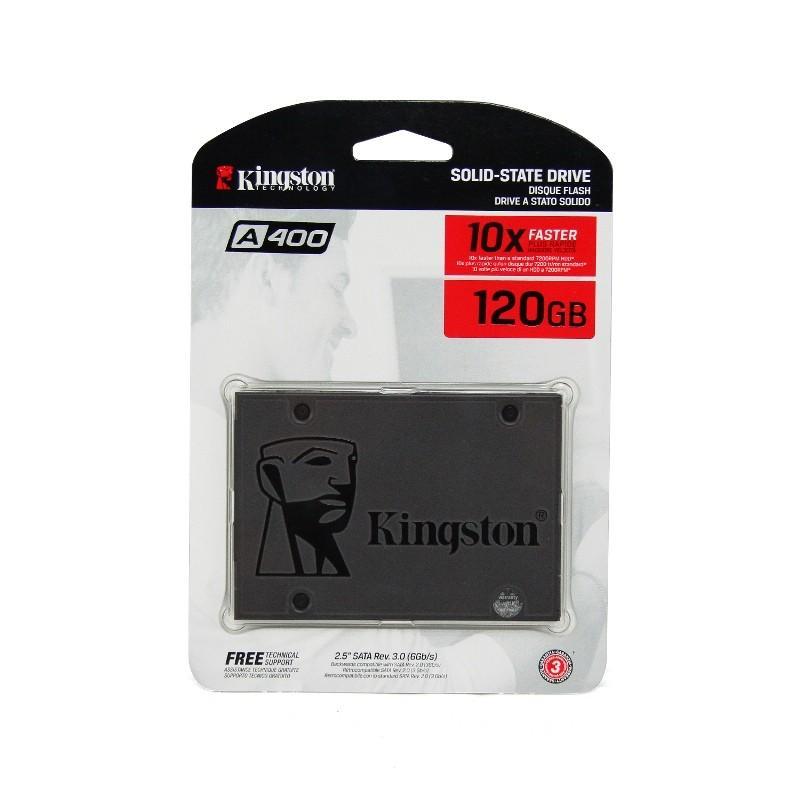 PROMO HARDISK SSD A400 SSD SATA Kingston Kapasitas 120GB Dengan Kecepatan Tinggi Untuk Laptop GARANSI 3 TAHUN