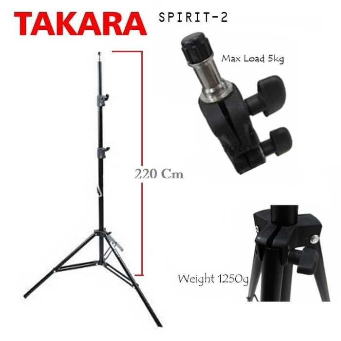 Light Stand TAKARA SPIRIT 2 Tripod Studio Lightstand | Mono