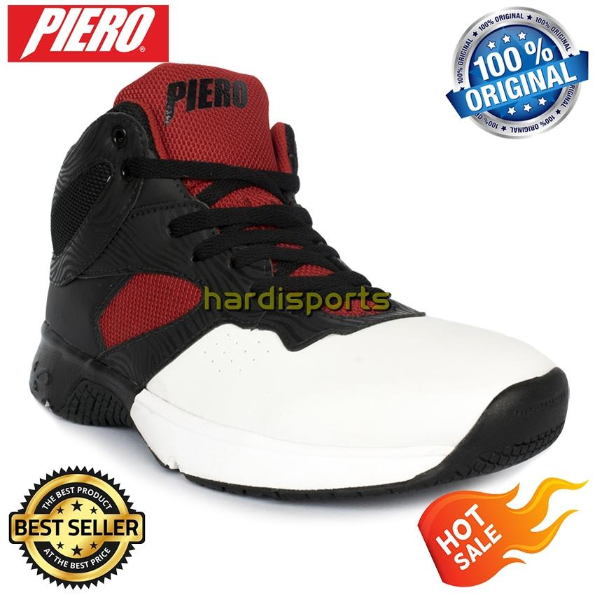 Sepatu Basket Pria Piero Commander P60148 - White Black