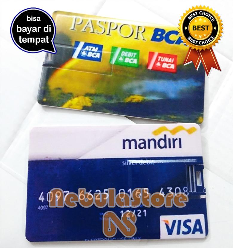 FLASHDISK Model Kartu ATM Mandiri - BCA - BRI - FLASH DISK 8gb 8 Gb