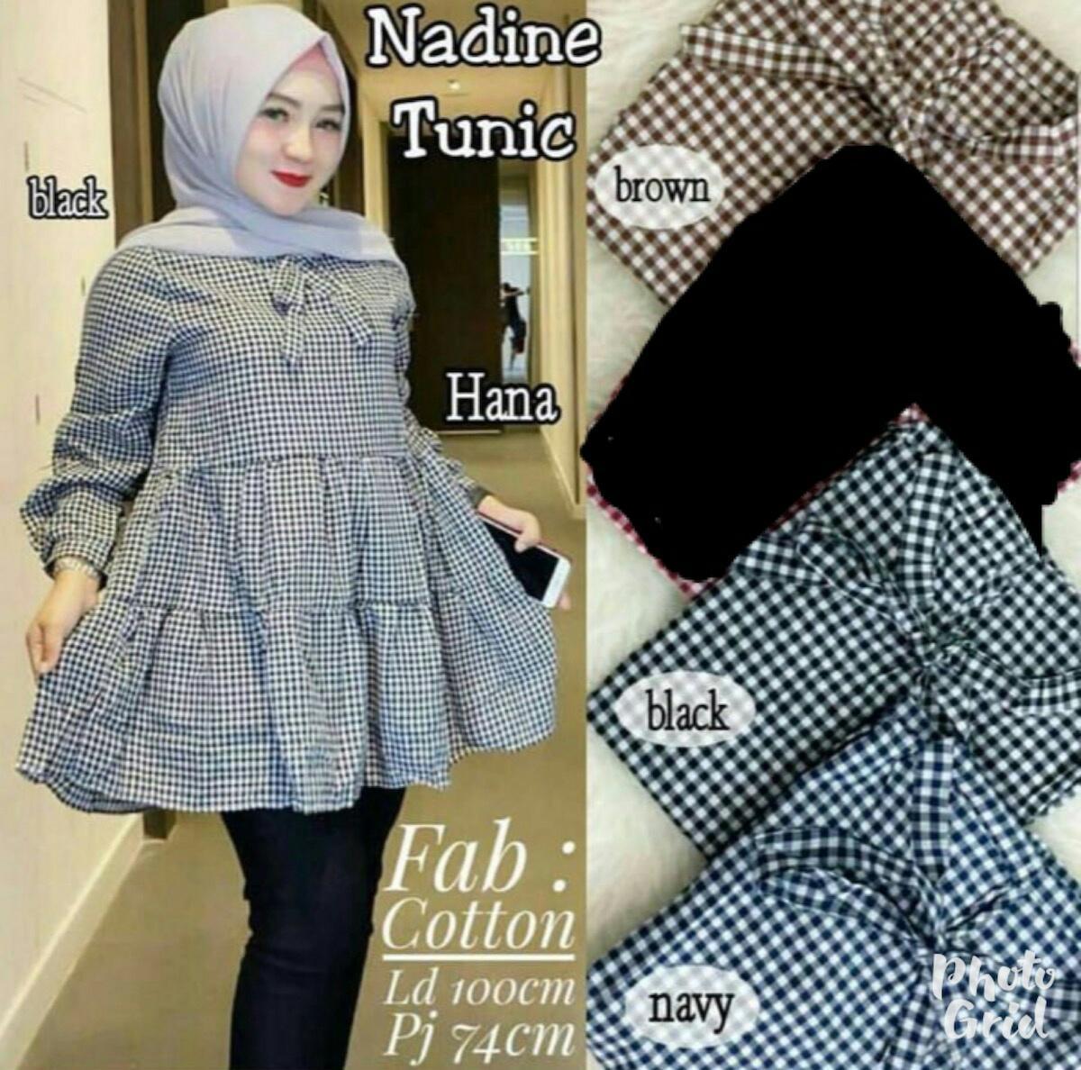 J&C Nadine Tunic / Atasan Tunik / Blouse Muslim / Kemeja Tunik / Tunik Wanita / Atasan Muslim / Baju Muslim / Tunik Katun / Baju Panjang / Hijab Fashion / Hijab Style / Kemeja Casual / Kemeja Jumbo / Kemeja Big Size