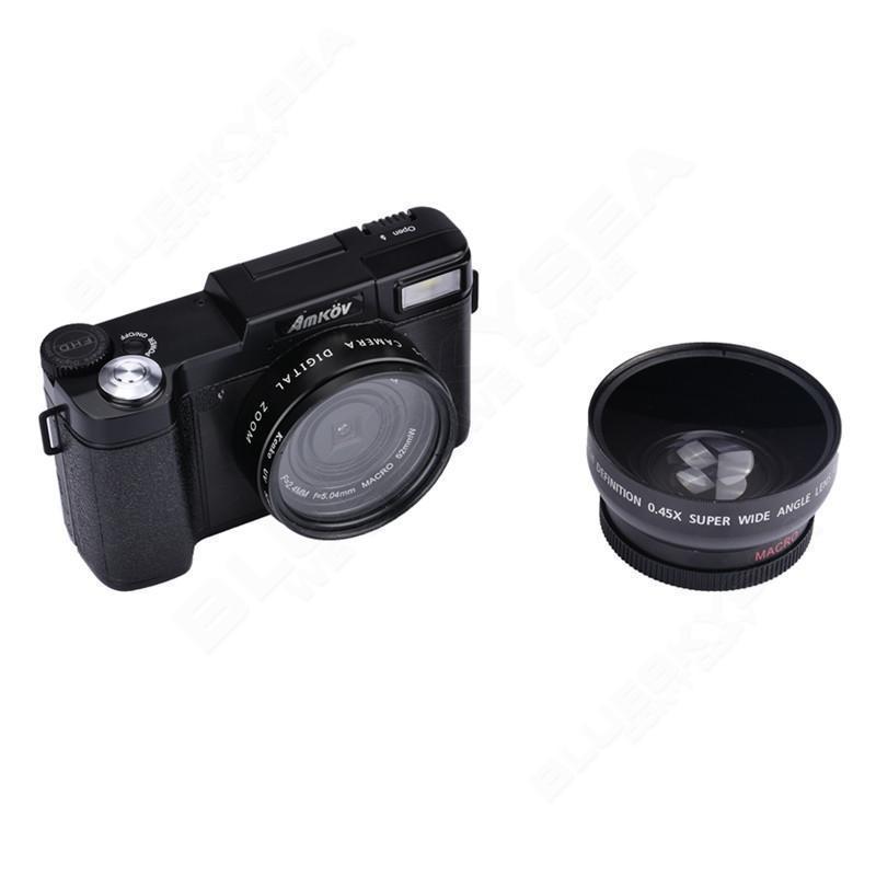 AMK-R2 24M 1080P HD Digital DSLR Camera+Wide-angle Lens+VCT-520 Tripod