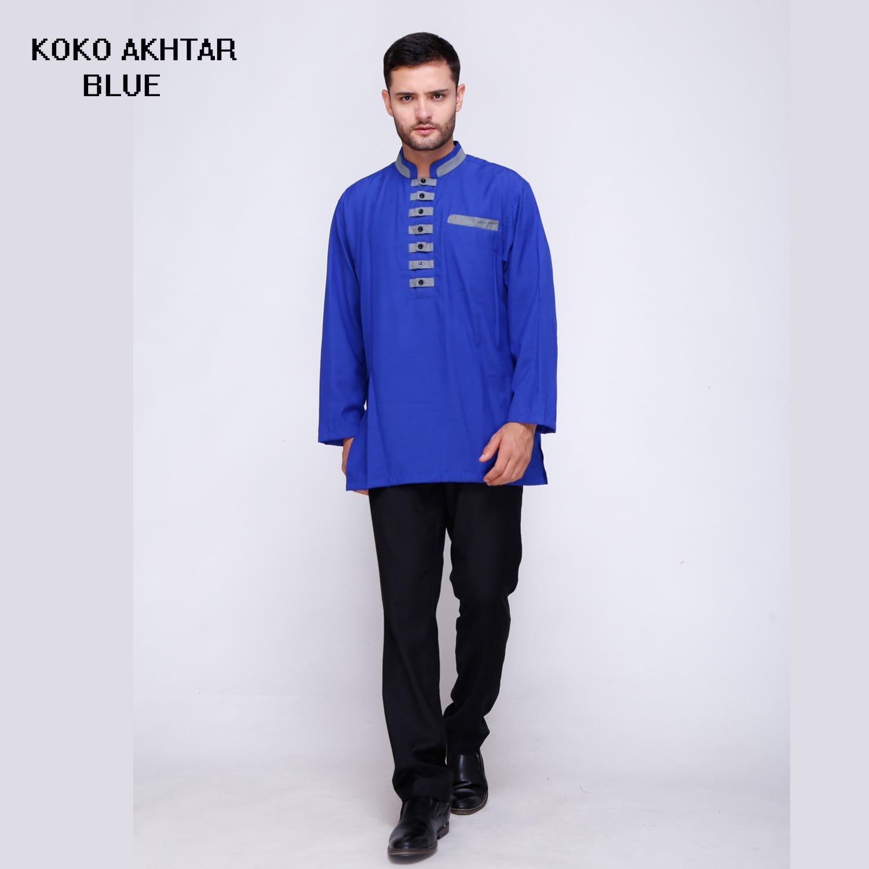 Baju Koko Akhtar Kemeja Muslim Pria Terbaru Brand Factory Oulet Fashion
