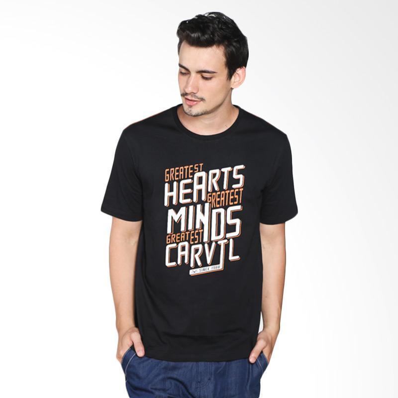 Carvil Men T-Shirt Pria TEEBLK-B1 - Black