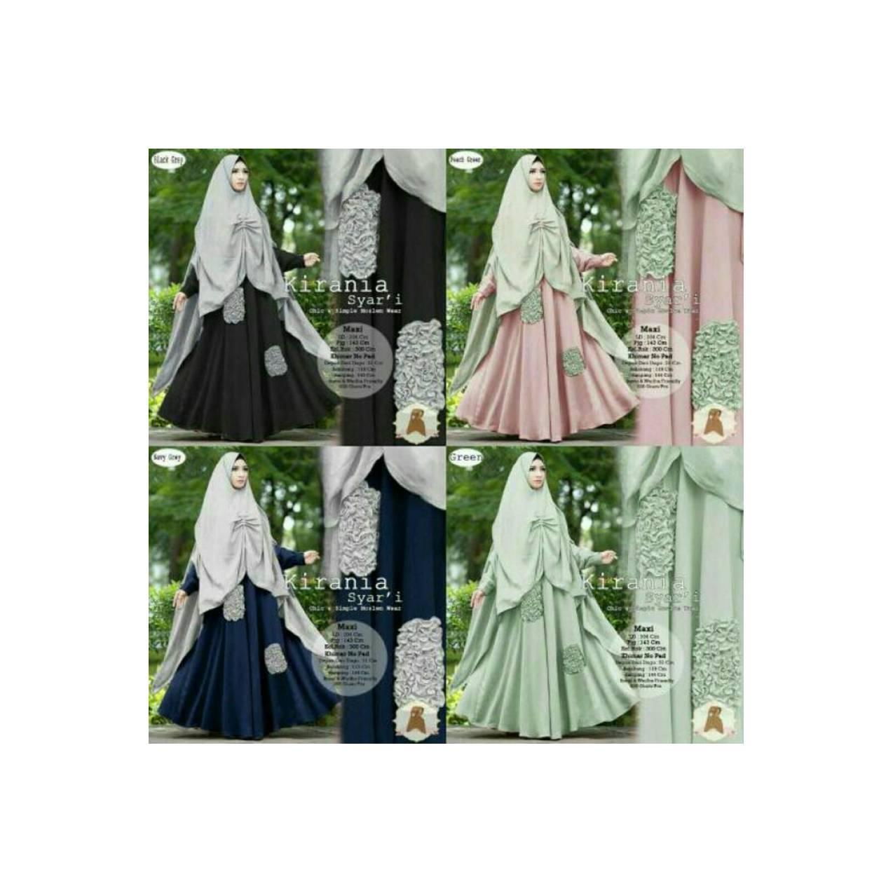 baju fashion gamis wanita remaja syari gaun pesta elegan