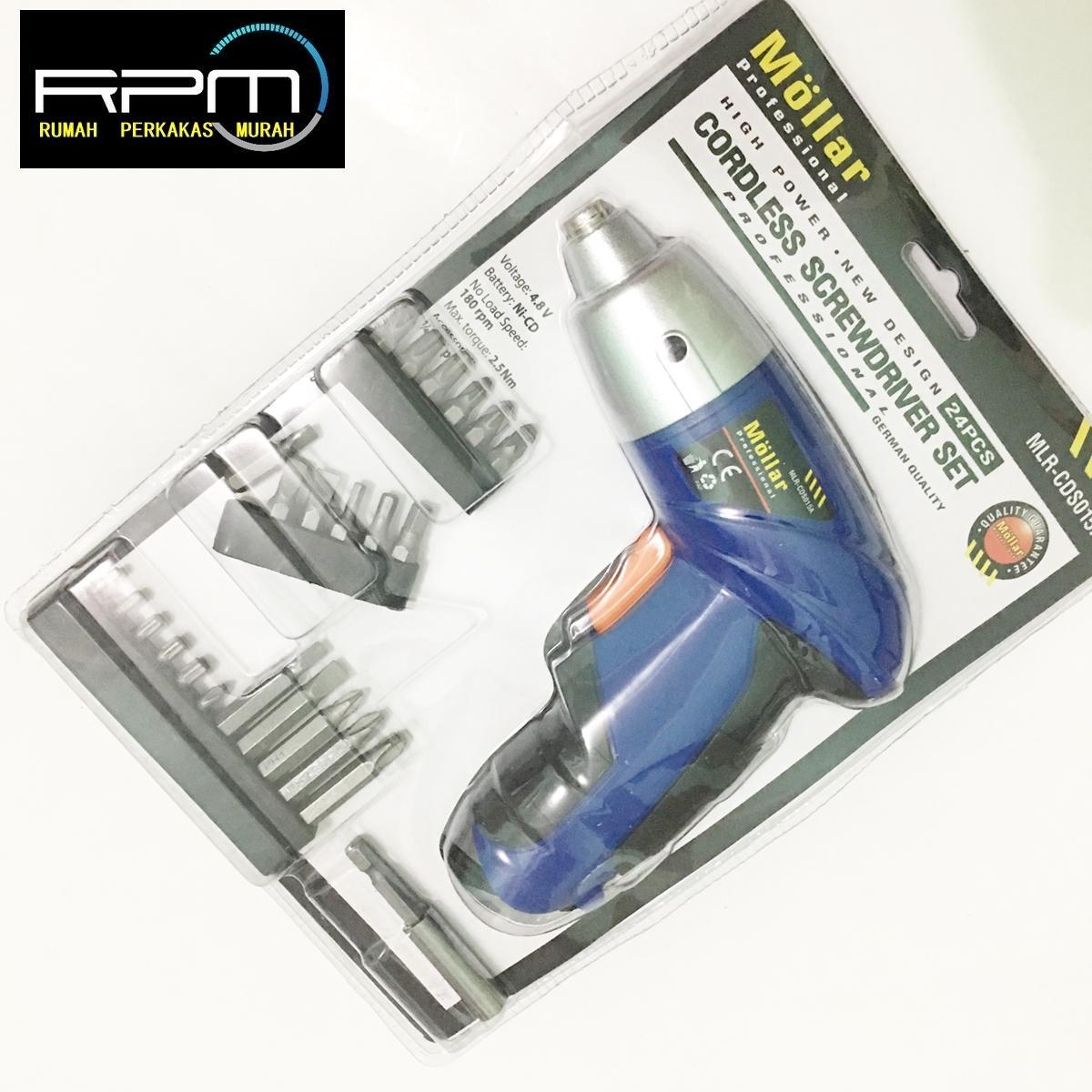Bor Listrik Terbaik Bosch 8 Pcs 3 10mm Cyl 4 Mata Multi Purpose Set Obeng Tanpa Kabel Mollar Cordless Drill Model Fisch 24pcs
