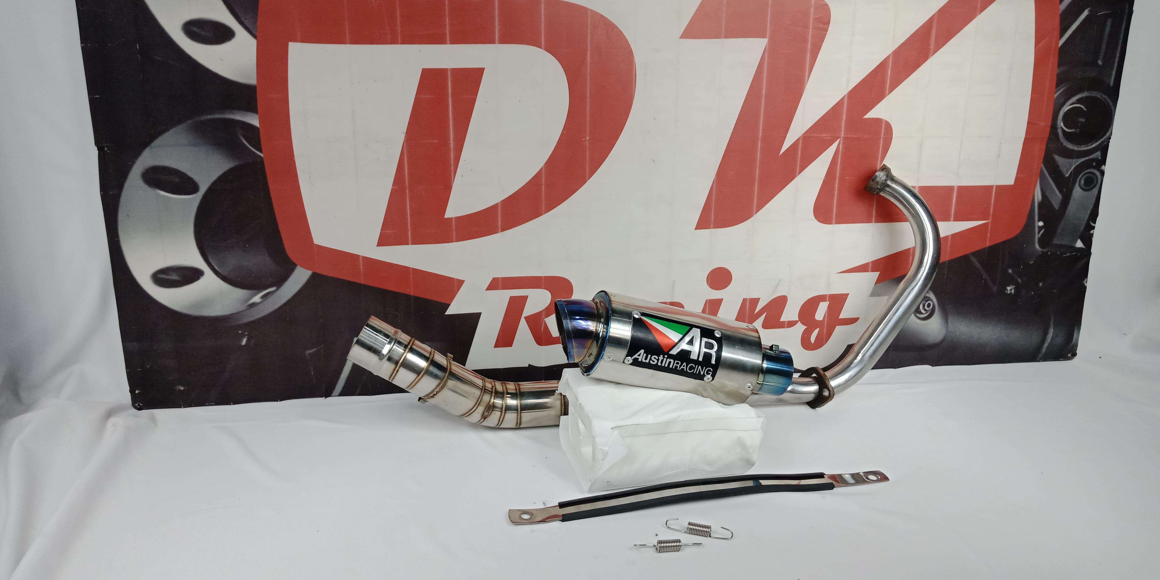Knalpot Racing Honda Sonic 150 Austin Racing Halfblue By Dk Racing Bekasi.