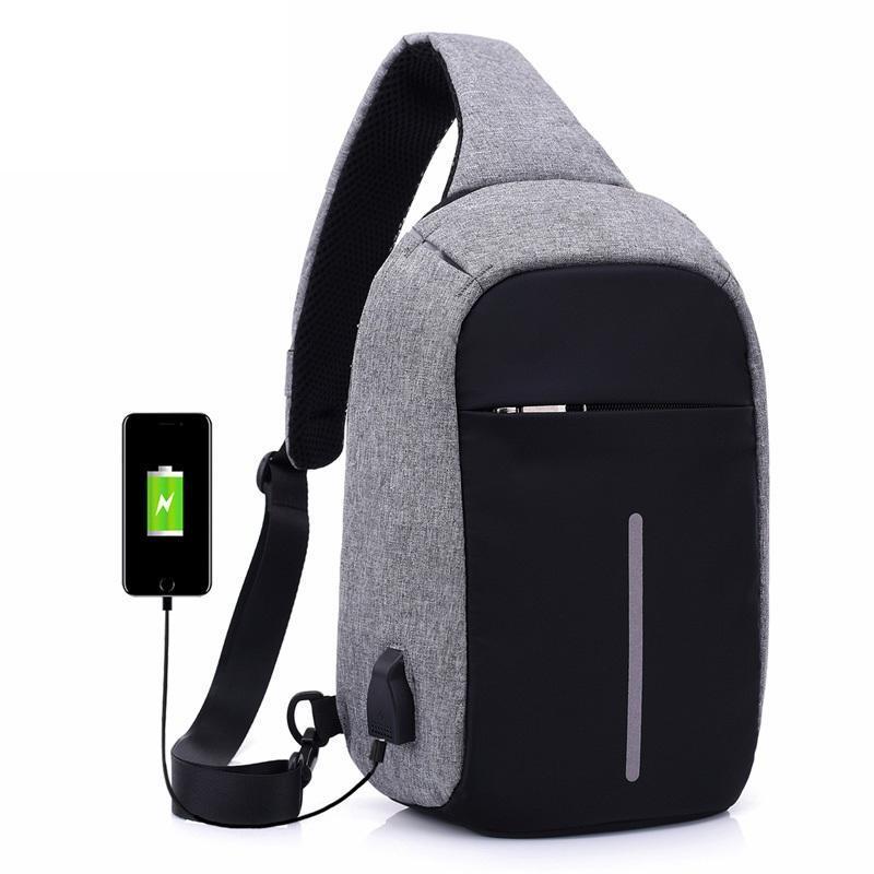Tas Selempang Anti Maling Dengan USB Charger Port 0871db3b21