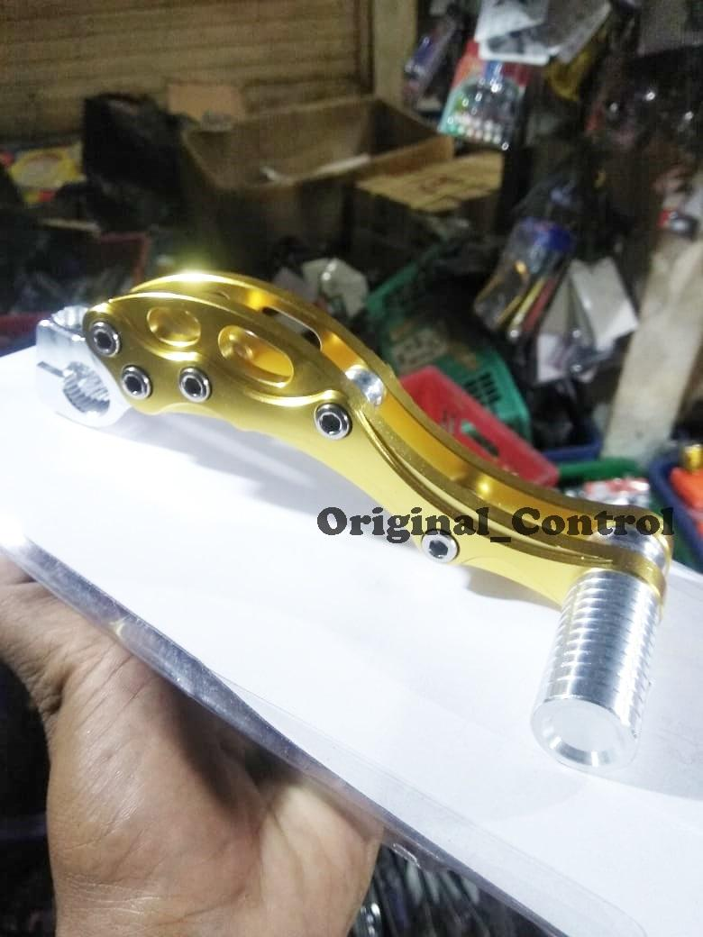 Kick Stater / Selahan / Engkol All Matic Honda , Vario , Beat , Scoopy , Space Full CNC - Gold