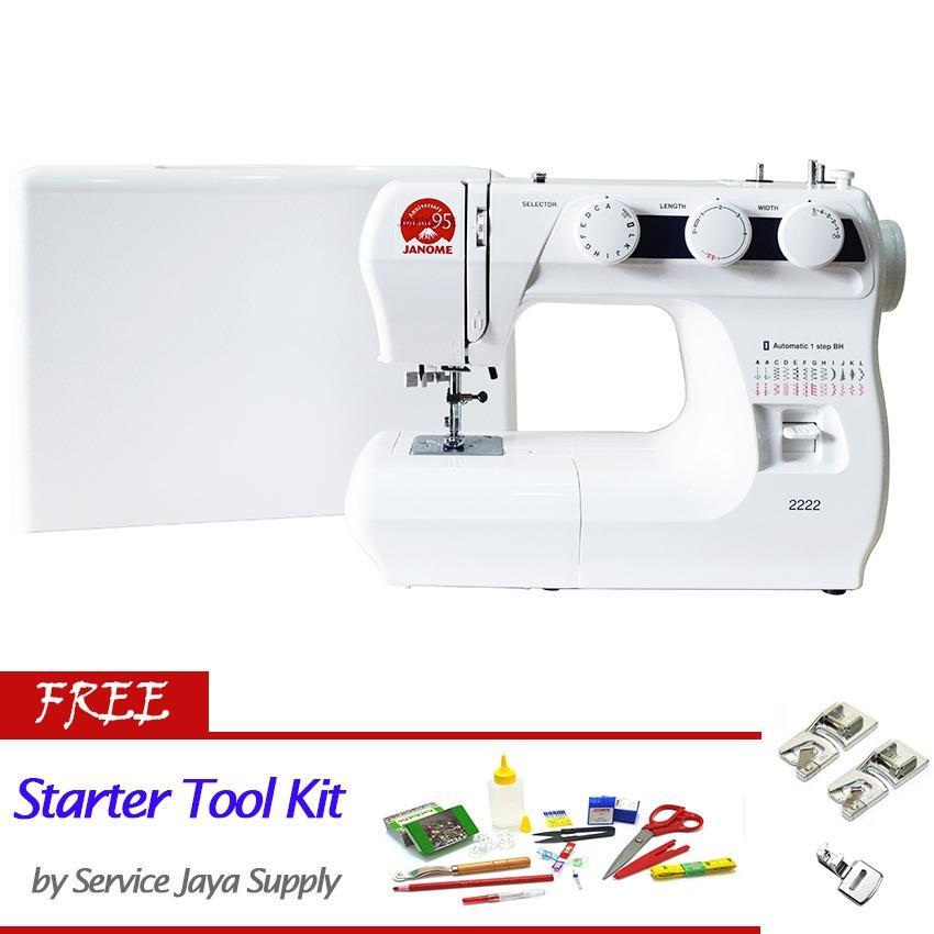 Janome 2222 Mesin Jahit Portable Multifungsi +FREE SJS Starter Kit
