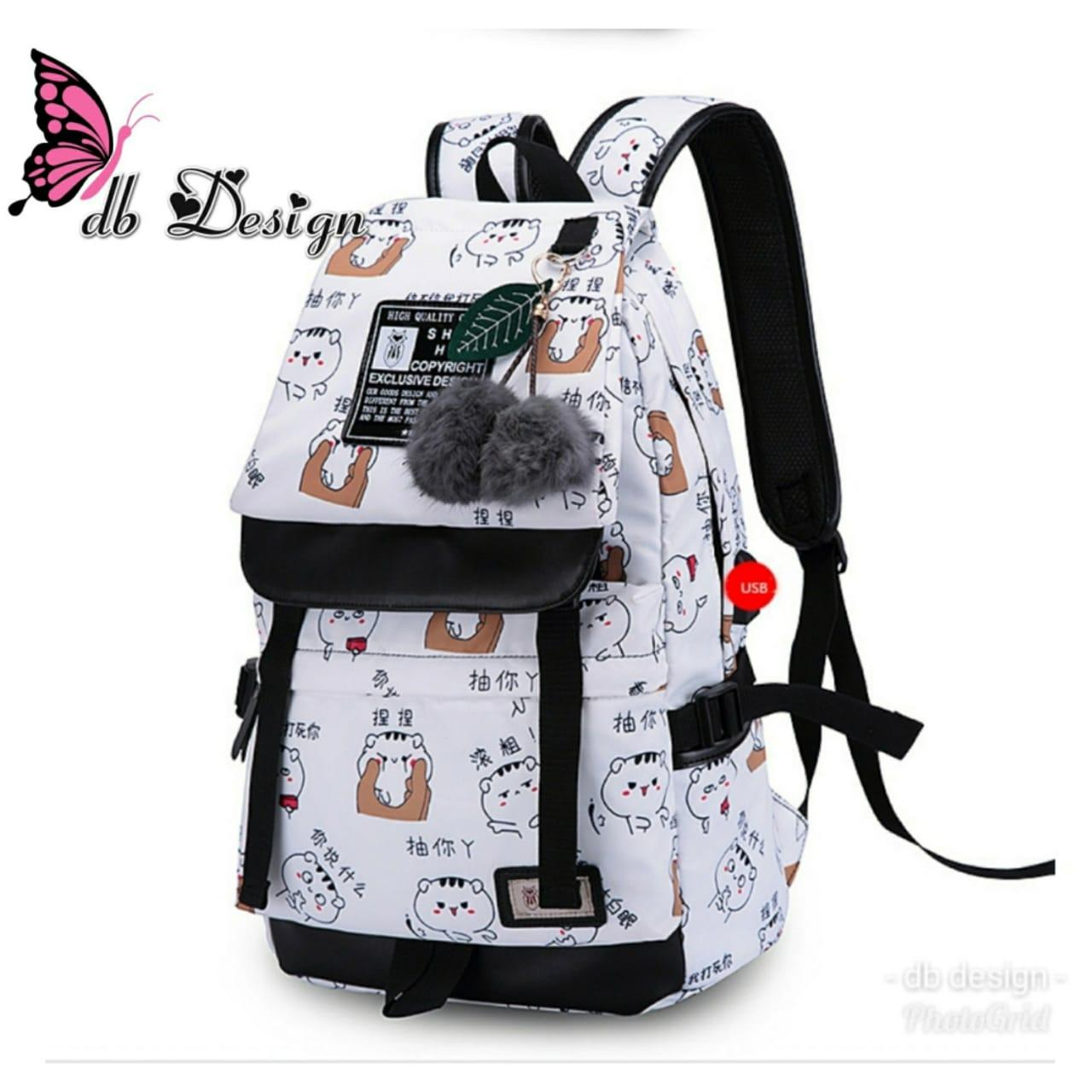 TTB Tas Ranse/Backpack/Punggung Wanita Beruang (TANPA GANTUNGAN BONEKA)