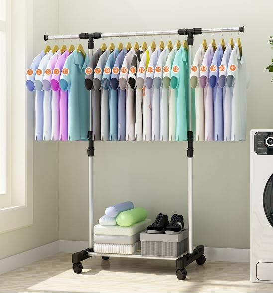 Grosir Station - Stand Hanger Single / Rak Gantungan Jemuran Baju Single Rack / Single Expendable