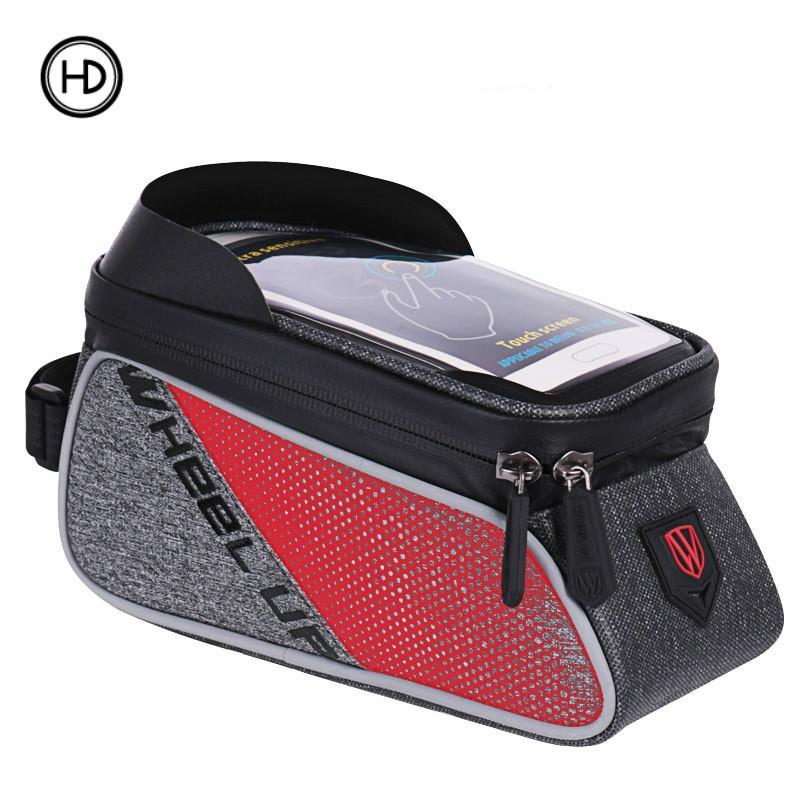 Tas depan sepeda, tas balok depan sepeda gunung, tas tabung atas, tas tahan air, peralatan bersepeda