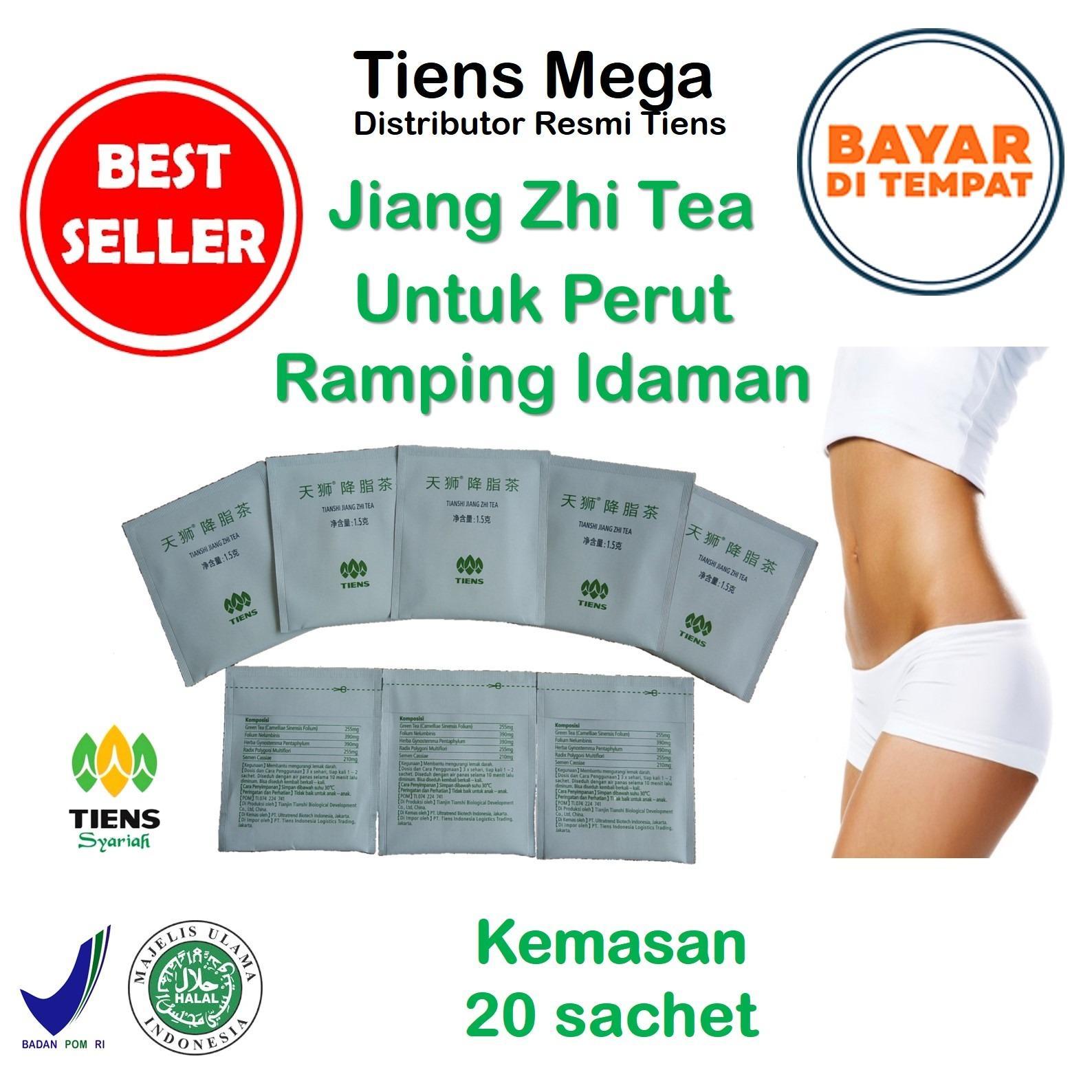 Tiens Teh Pelangsing Jiang Zhi Tea – Paket Promo Banting Harga [20 Sachet] + GRATIS Kartu Diskon Tiens  Mega