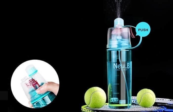 PROMO - sport spray water bottle / botol minum semprot / new b Import