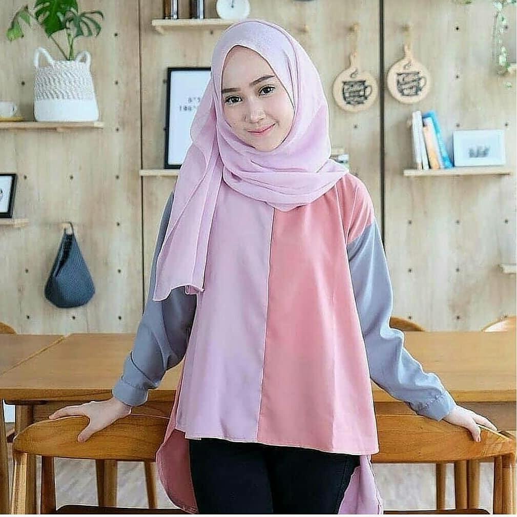 Fashion Wanita Muslim Gamis Original Collection Terbaru MC AISYAH TUNIK Hijab Perempuan Casual Muslimah