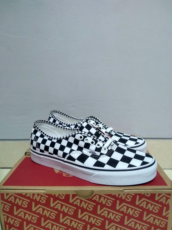 (BNIB) ORIGINAL Vans Authentic Mix Checkerboard Black True White - qk5TwY